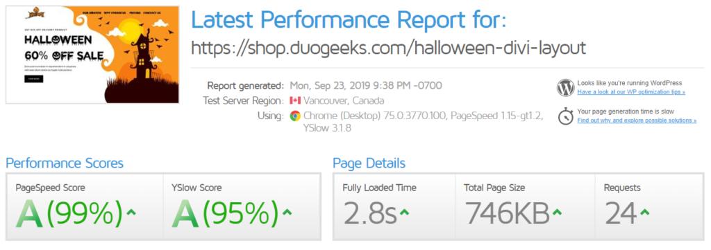 GTmetrix Halloween Landing Page