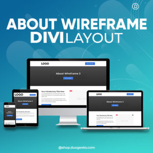 Divi About Wireframe